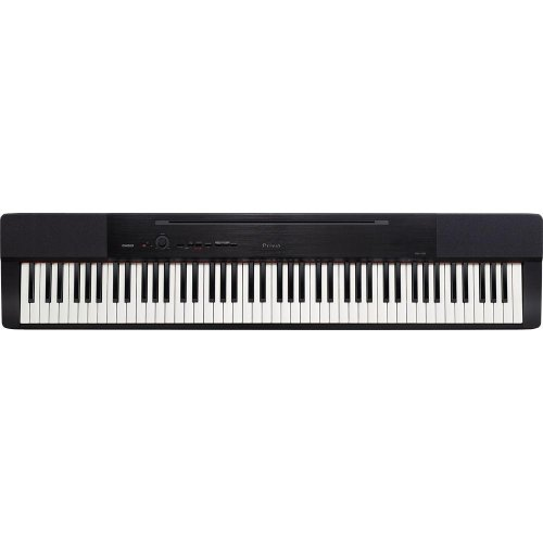 Casio PX350 Privia 88-Key Touch Sensitive Digital Piano (Black) with X Style Bench, Stand and Keyboard Pedals