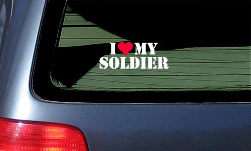 Soldier Vinyl Sticker Decal White product image