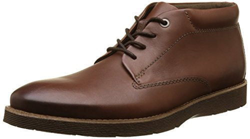 Clarks Folcroft Mid, Bottes Homme Marron (Dark Tan Leather)
