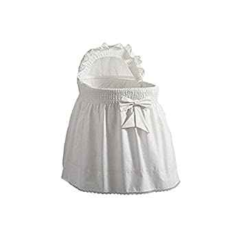 White 13 x 29 Babydoll Bedding Poly Cotton Set of 2 Bassinet Sheets