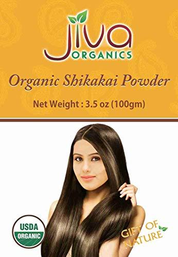 Jiva Organic Shikakai Powder 3.5 Ounce for Hair - Acacia Concinna (Shikakai Powder Amla)