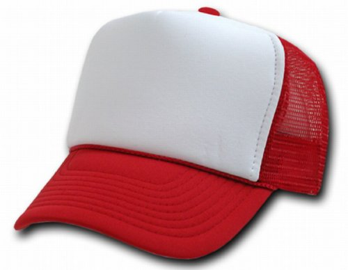 DECKY Two Tone Trucker Mesh Caps Plain Baseball Hat- ()
