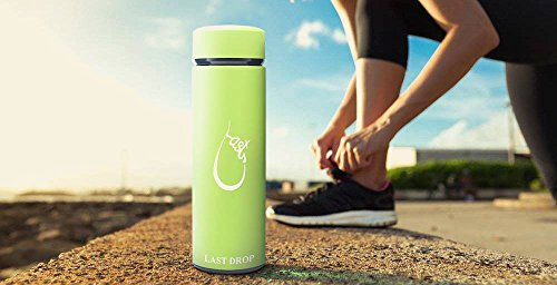Last Drop Stylish Water Bottle---the best vacuum insulated water bottle coffee mug made from stainless steel16oz double wall matte color leak-resistant keep cold for 24hrs and hot for 12hrs by LAST DROP (Image #5)