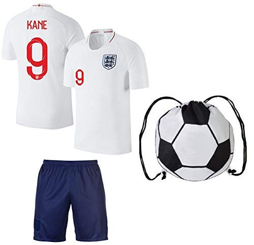 S.F.A England Harry Kane #9 Soccer Jersey Kids Youth Sizes Football World Cup Premium Gift (YL 10-13 Years, Home) ()