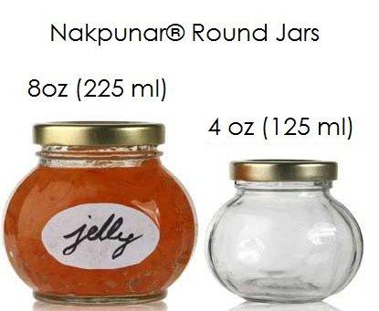 Amazon Nakpunar 6 Pcs 8 Oz Round Glass Jars For Jam Honey
