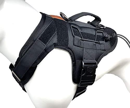 ALBCORP Tactical Dog Vest Harness - Military K9 Dog Training Vest - Working Dog Harness, Extra Large, Black