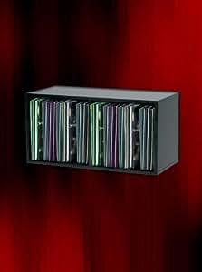 """MODULO ESTANTERIA DE MADERA NEGRA PARA 100 DISCOS DE VINILO SINGLE 7"""" (Los discos pequeños) / Ref.MAR011"""