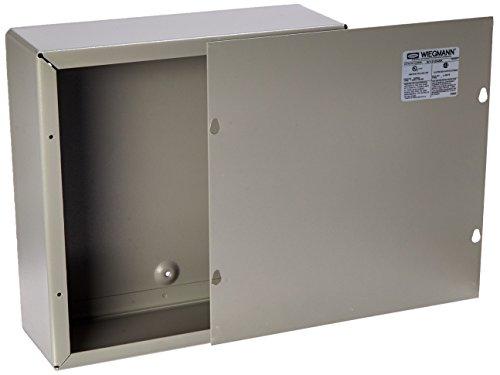 Mount Wall 12 Nema - Wiegmann SC121204NK SC-Series NEMA 1 Screw Cover Wallmount Pull Box, No Knockouts, Painted Steel, 12