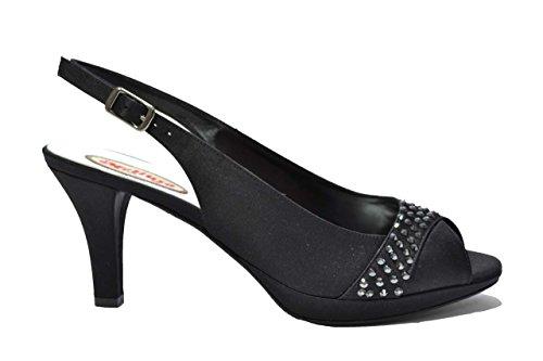 Melluso Sandali scarpe donna nero elegante J227