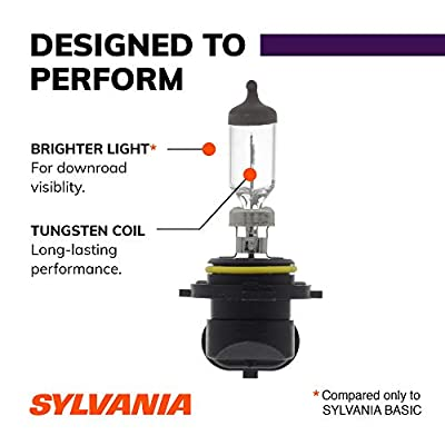 SYLVANIA - 9006 XtraVision - High Performance Halogen Headlight Bulb, High Beam, Low Beam and Fog Replacement Bulb (Contains 2 Bulbs): Automotive