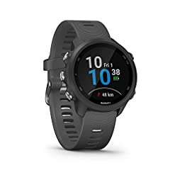 Garmin Forerunner 245 GPS Running Smartwatch with Advanced Training Features – Grey Health and Household