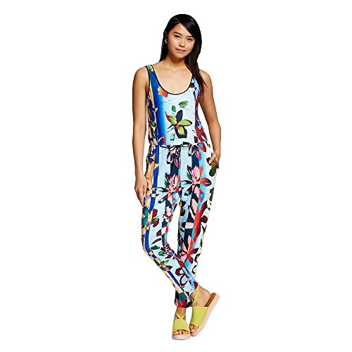 Dream Daily by Clover Canyon Women's Tropical Printed Jumpsuit (Blue Combo) (X-Small) from Dream Daily by Clover Canyon
