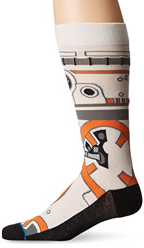Star Wars Men's Thumbs up Crew Sock, Natural, M