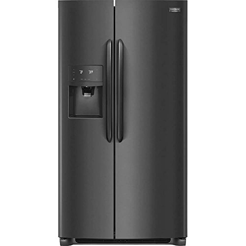 Frigidaire FGSS2635TD Gallery Series 36 Inch Freestanding Side by Side Refrigerator with 25.6 cu. ft. Capacity, in Black Stainless Steel
