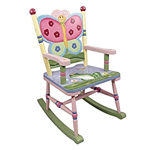 Fantasy Fields - Magic Garden Thematic Kids Wooden Rocking Chair | Imagination Inspiring Hand Crafted & Hand Painted Details Non-Toxic, Lead Free Water-based Paint