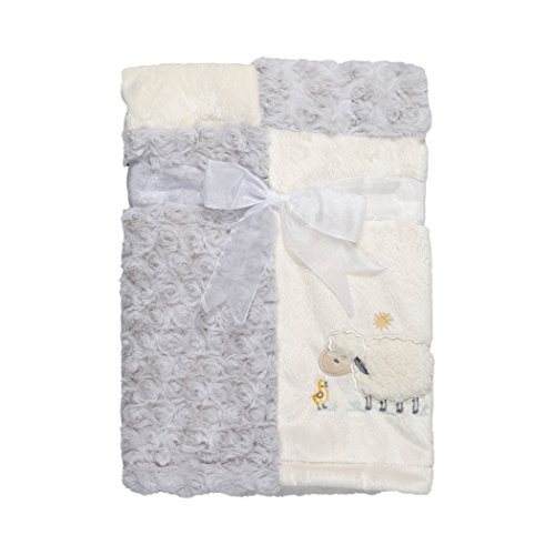 Kyle & Deena Baby Patch Blanket with Ivory Lamb Applique (Car Seat Covers Lamb compare prices)