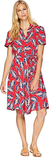 Chaps Women's Printed Fit-and-Flare Dress Red Multi/Shirley Tropical Medium