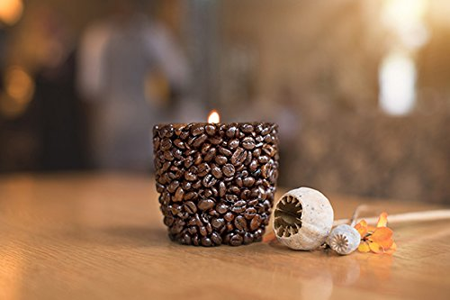 Coffee Passion Tealight Holder - Tall - Coffee Candle Bean