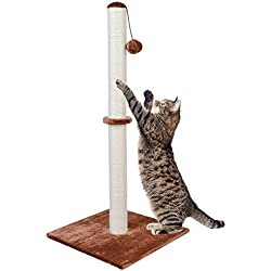 "Dimaka Tall Cat Scratching Post [Screws included], 37"" Height Sisal Pole for Big Cats, Ultimate Scratcher (Brown)"