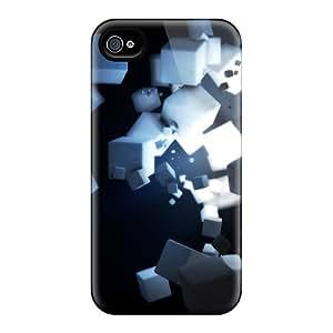 Cute High Quality Iphone 4/4s Dark Cubes Case