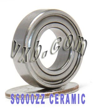 S6800ZZ Bearing Ceramic Stainless Steel Shielded 10x19x5 Ball
