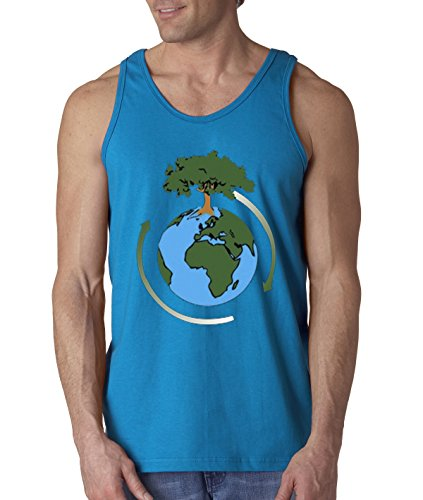 New Way 488 - Men's Tank-Top Earth Day Save Our Trees Medium (Earth Tank)