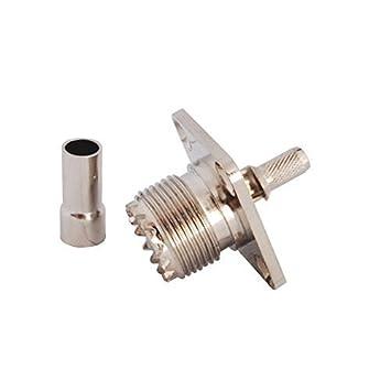 PC-Case 2pcs RF Electronics alambre Terminal Conector UHF PL-259) hembra brida