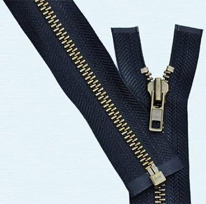 "14/"" #5 Aluminum Zippers ~ Separating ~ Black ~ YKK 50"