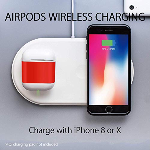 Qi Wireless Charging Case Compatible with AirPods, Wireless Charging Case& Protective Drop-proof Case for AirPods (No Airpods Included)