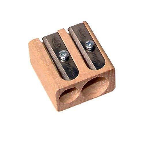 3 X KUM Wood Cutter 2-Hole Pencil Sharpener (142-17)