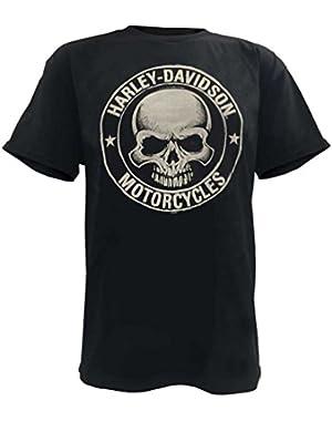Men's H-D Skull Badge Short Sleeve T-Shirt Black. 30298293