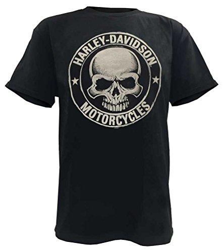 Harley-Davidson Men's H-D Skull Badge Short Sleeve T-Shirt Black. 30298293