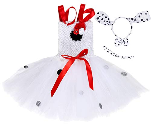 Tutu Dreams Dalmatian Costume for Toddler Dalmation Animal Dress Up Tutu Costumes Birthday Halloween (Dalmatian, Medium) -
