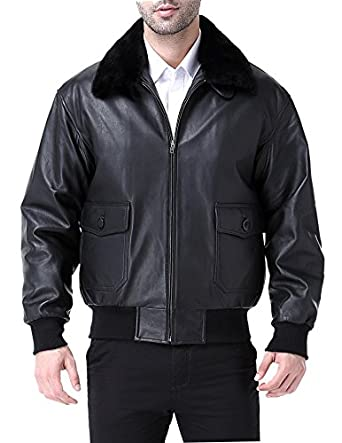 Airborne Leathers MEN'S G1 Goatskin Bomber Jacket With Fur at ...