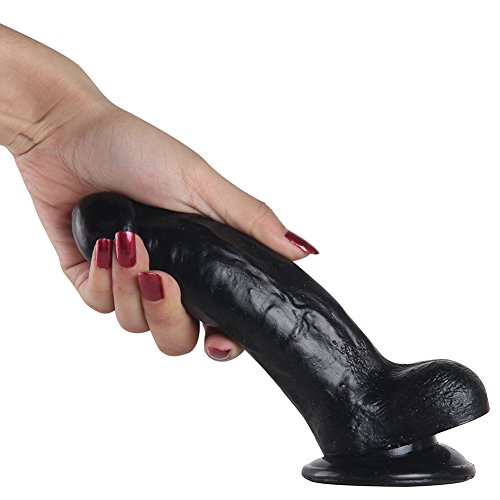 """DressLoves Beginners 6.7 Inches """"Need A Black Dicks"""" Realistic, Ballsy, Veiny & Flexible For Varying Positions- Suction Cup For Solo Or Strap On Lesbian Fun(Black)"""