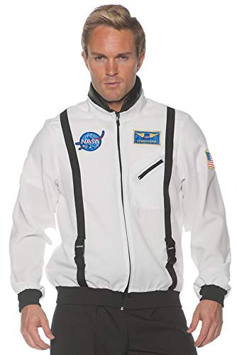 Underwraps Adult and Teen Astronaut Space Jacket Theme Party Halloween Costume, STD -