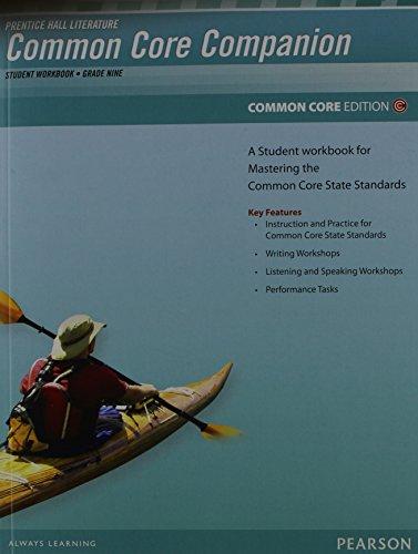 PRENTICE HALL LITERATURE 2012 COMMON CORE STUDENT WORKBOOK GRADE 9