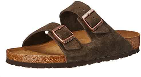 Birkenstock Unisex Arizona Mocha Suede Sandals - 38 N EU / 7-7.5 2A(N) US