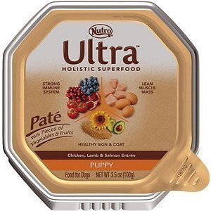 Nutro Ultra Puppy Pate Chicken, Lamb & Salmon Entree Dog Food Trays - 3.5-oz tray, case of 24 by Nutro by Nutro