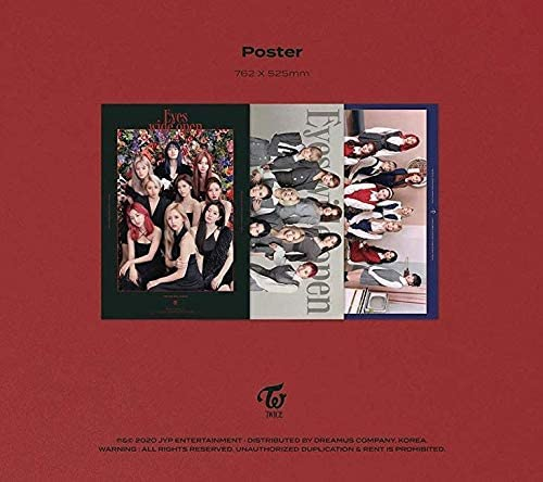 TWICE - Eyes extensive open (Vol.2) Album+Folded Poster+Extra Photocards Set (Retro ver.)