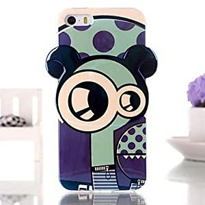 Cute Cartoon Robot Blue Ray TPU Soft Case for iPhone 5/5S