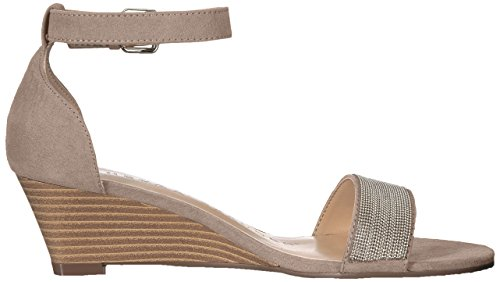 Taupe Enfield Suede Athena Alexander Wedge Sandal Women's nSESgfX1