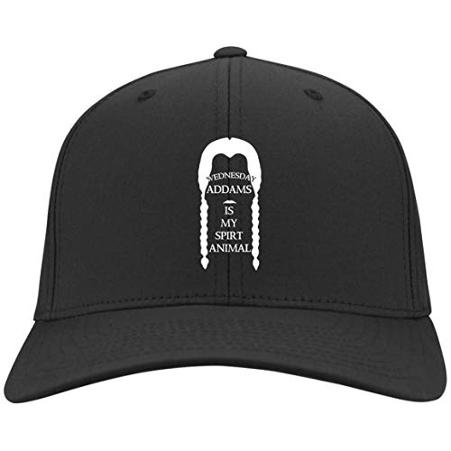 (Addams is My Spirt Animal Black Custom Embroidered caps for Men Women (Nylon Cap; Black; One)
