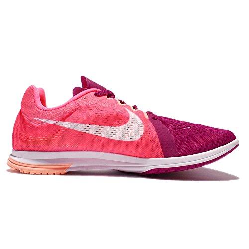 Nike Mens Zoom Streak Lt 3, Wit / Zwart-volt Racer Roze / Wit-sport Fuchsia