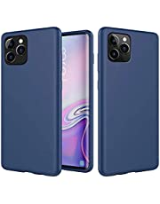 MUTOUREN Compatible con iPhone 11 Pro Funda Silicona TPU Gel Goma Cover Case Anti-Choque Duradero Suave Carcasa para iPhone 11 Pro - Azul Marino