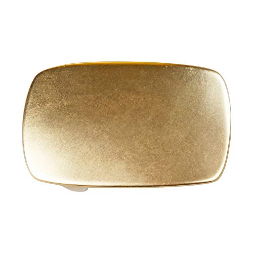 WUTA Men/Women's Solid Brass Belt Buckle Strap Center Pin Style Heel Bar DIY Leathercraft Hardware (Style #011)