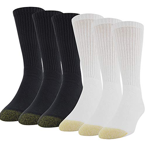 Gold Toe Men's 6-Pack Cotton Crew 656S Athletic Sock, big-tall