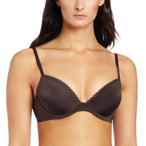 - Calvin Klein Women's Seductive Comfort Tailored Customized Lift Demi Bra, Black Coffee, 32DD