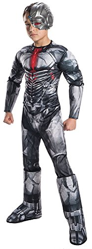 Rubie's Costume Boys Justice League Deluxe Cyborg Costume, Large, (Justice Costume)