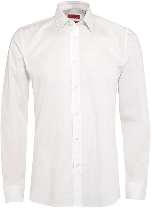 BOSS Hugo Hugo para Hombre c-jery Camisa, Slim Fit, Color Blanco: Amazon.es: Ropa y accesorios